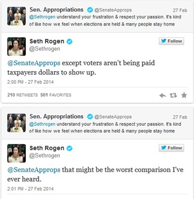 seth rogen and sen appropriations 2
