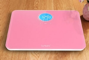 Surpahs Shiny Small Lightweight Digital Bathroom Scale