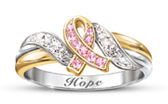 hopes embrace breast cancer awareness engraved ring