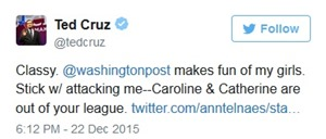 ted cruz tweet defending his daughters