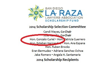 LaRaza Association Judge Gonzalo Curiel 2014
