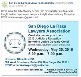 LaRaza Association Judge Gonzalo Curiel 2016