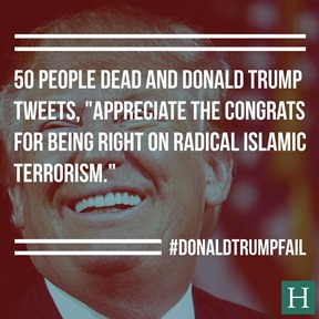 Trump tweet misquoted by huffington post