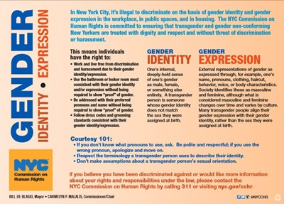 NYC gender ID card